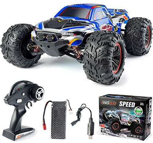 51wxv+OscrL. AC  - INGQU 1:10 Scale High Speed 60km/h 4WD Off-Road RC Car 2.4Ghz Brushless Remote Control Monster Truck