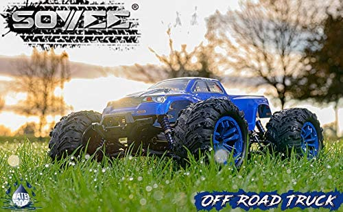51xS8Dh3Q L. AC  - Soyee RC Cars 1:10 Scale RTR 46km/h High Speed Remote Control Car All Terrain Hobby Grade 4WD Off-Road Waterproof Monster Truck Electric Toys for Kids and Adults -1600mAh Batteries x2