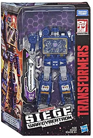 51xuTFCQAyL. AC  - Transformers Toys Generations War for Cybertron Voyager Wfc-S25 Soundwave Action Figure - Siege Chapter - Adults & Kids Ages 8 & Up, 7""