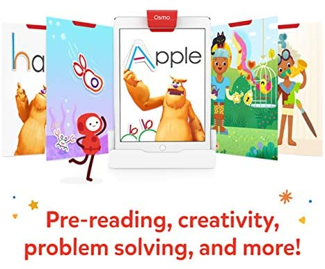 51y ADdMWkL. AC  - Osmo - Little Genius Starter Kit for iPad - 4 Educational Learning Games - Ages 3-5 - Phonics & Creativity - STEM Toy (Osmo iPad Base Included)