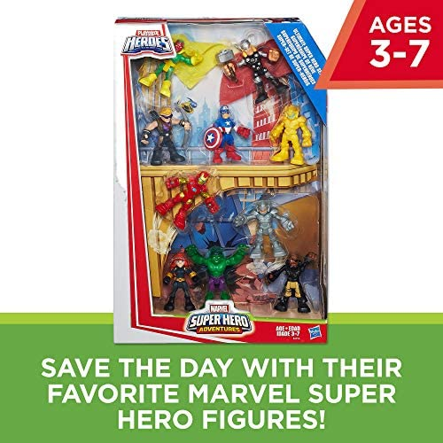 51yufIvBKPL. AC  - Playskool Heroes Marvel Super Hero Adventures Ultimate Super Hero Set, 10 Collectible 2.5-Inch Action Figures, Toys for Kids Ages 3 and Up (Amazon Exclusive)