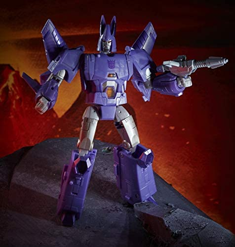 51zMh8l6cvL. AC  - Transformers Toys Generations War for Cybertron: Kingdom Voyager WFC-K9 Cyclonus Action Figure - Kids Ages 8 and Up, 7-inch