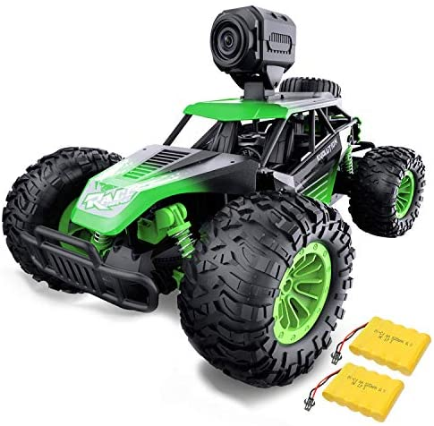 51zhr8U+s4L. AC  - Gizmovine Remote Control Car with Camera, High Speed Racing Off-Road RC Cars with 2 Rechargeable Batteries, Waterproof RC Monster Trucks Buggy Vehicle Electric Toy Cars for All Kids Boy