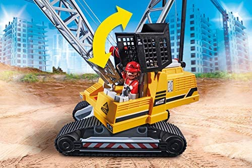 51zn4 8ql L. AC  - Playmobil Cable Excavator with Building Section