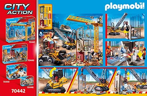 610EkhiNV2L. AC  - Playmobil Cable Excavator with Building Section