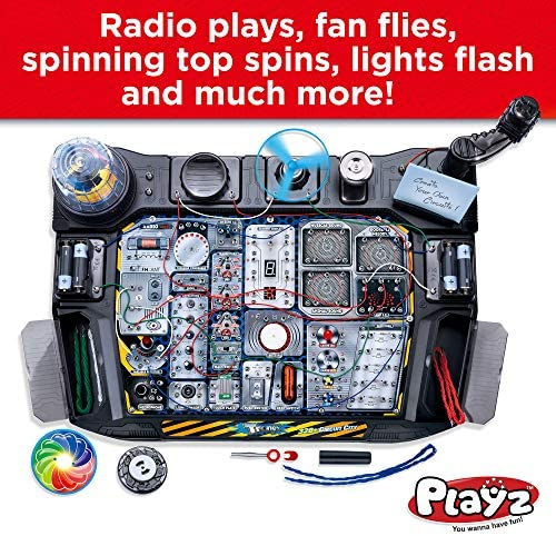 610aM MTtxL. AC  - Playz Advanced Electronic Circuit Board Engineering Toy for Kids   328+ Educational Experiments to Wire & Build Smart Connections Using Creative Knowledge of Electricity   Science Gift for Children