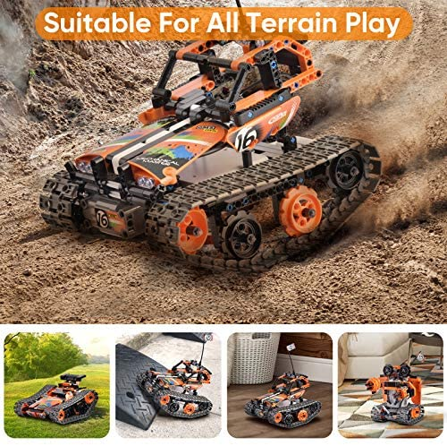 613 fmHx5rL. AC  - OASO Remote Control STEM Building Kit for Boys 8-12, 392 Pcs Science Learning Educational Building Blocks for Kids, 3 in 1 Tracked Racer RC Car/Tank/Robot Toys Gift Sets for Boys Girls