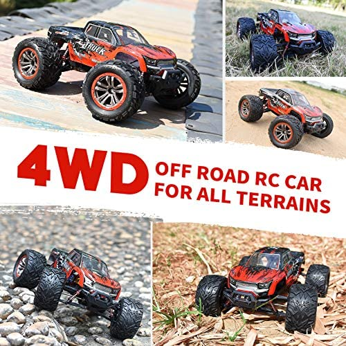 616qykquNUL. AC  - Hosim 1:12 Scale 46+ kmh High Speed RC Cars - Boys Remote Control Cars 4WD 2.4GHz Off Road RC Monster Trucks for Adults Kids.Electric Power Radio Control Cars Gift for Children (Red)