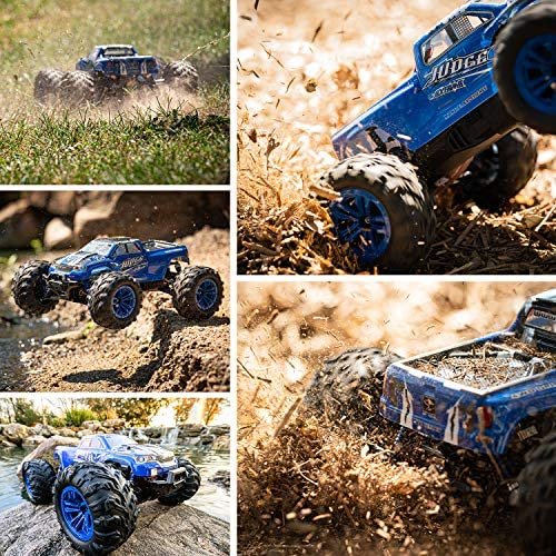 618Kwqgs3ML. AC  - Soyee RC Cars 1:10 Scale RTR 46km/h High Speed Remote Control Car All Terrain Hobby Grade 4WD Off-Road Waterproof Monster Truck Electric Toys for Kids and Adults -1600mAh Batteries x2