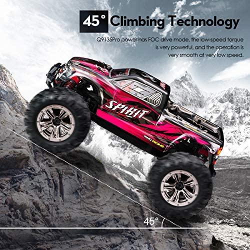 61BzVek ONL. AC  - Hobby RC Cars,FLYHAL 9135 Pro Remote Control Car RC Cars for Adults 30+MPH 45km/h 4WD Professional IPX4 Waterproof 1:16 Scale Super Fast RC Cars Moster RC Trucks 4x4 Off Road 2 Batteries