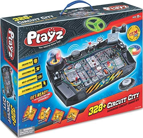 61GGS9gC9nL. AC  - Playz Advanced Electronic Circuit Board Engineering Toy for Kids   328+ Educational Experiments to Wire & Build Smart Connections Using Creative Knowledge of Electricity   Science Gift for Children