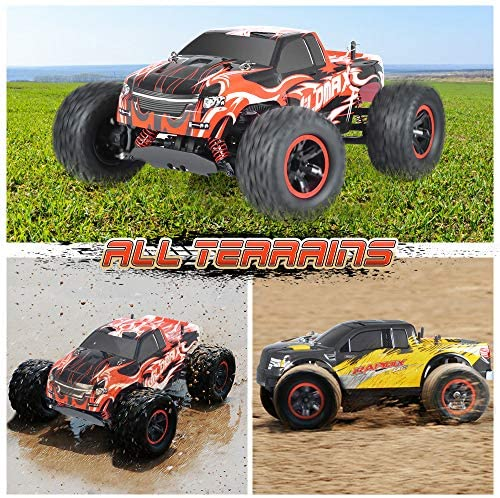 61I5tqbrjrL. AC  - NQD All Terrain Waterproof High Speed Remote Control Monster Truck, 1:10 Off Road RC Truck, 4WD 2.4Ghz RC Cars for Kids & Adults Gifts