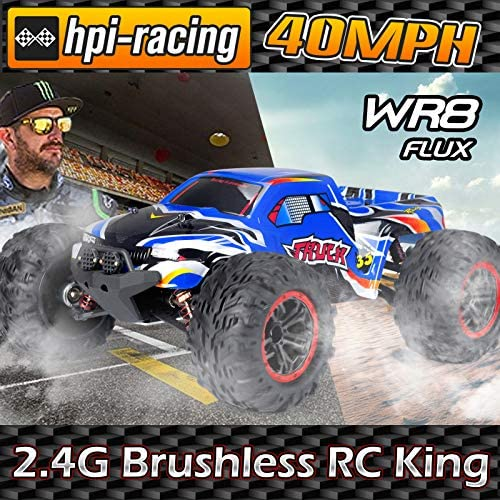 61SEwzW+4YL. AC  - INGQU 1:10 Scale High Speed 60km/h 4WD Off-Road RC Car 2.4Ghz Brushless Remote Control Monster Truck