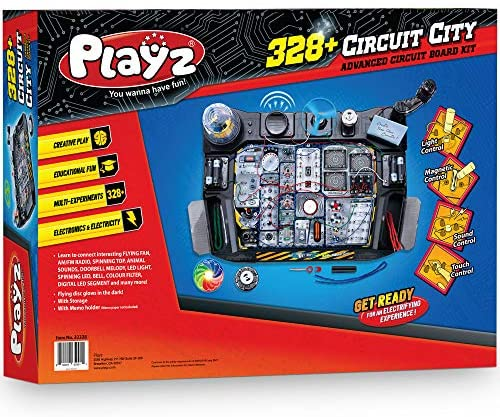 61Tm5Y42fcL. AC  - Playz Advanced Electronic Circuit Board Engineering Toy for Kids   328+ Educational Experiments to Wire & Build Smart Connections Using Creative Knowledge of Electricity   Science Gift for Children