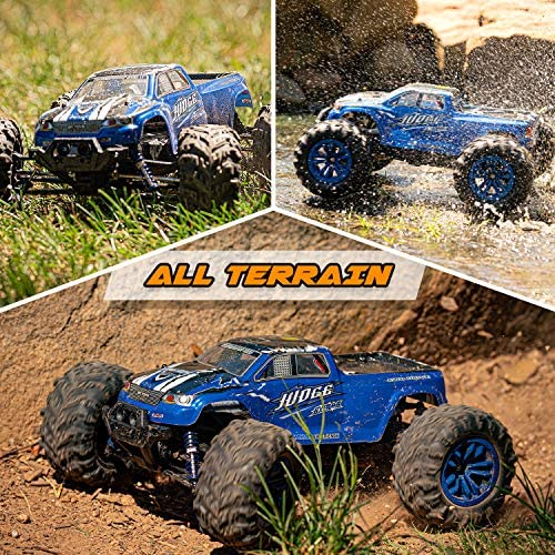 61UsJu3cDBL. AC  - Soyee RC Cars 1:10 Scale RTR 46km/h High Speed Remote Control Car All Terrain Hobby Grade 4WD Off-Road Waterproof Monster Truck Electric Toys for Kids and Adults -1600mAh Batteries x2