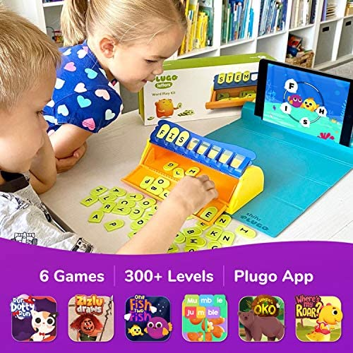 61ZL8VD7i3L. AC  - Plugo Letters by PlayShifu - Word Building with Phonics, Stories, Puzzles | 5-10 Years Educational STEM Toy | Interactive Vocabulary Games | Boys & Girls Gift (App Based)