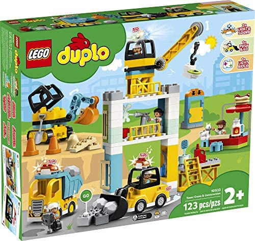 61ZuPz2xJ8L. AC  - LEGO DUPLO Construction Tower Crane & Construction 10933 Exclusive Creative Building Playset with Toy Vehicles; Build Fine Motor, Social and Emotional Skills; Gift for Toddlers, New 2020 (123 Pieces)
