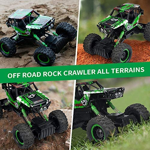 61cF+BTcoTL. AC  - DOUBLE E RC Car 1:12 Remote Control Car Monster Trucks with Head Lights 4WD Off All Terrain RC Car Rechargeable Vehicles