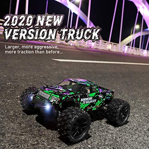 61eWd2z70NL. AC  - HAIBOXING 1:18 Scale All Terrain RC Car 18859E, 36 KPH High Speed 4WD Electric Vehicle with 2.4 GHz Remote Control, 4X4 Waterproof Off-Road Truck with Two Rechargeable Batteries