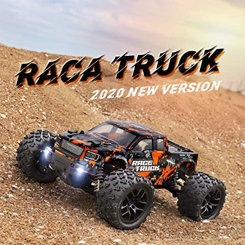 61hEvLkN+eL. AC  - 1:18 Scale RC Monster Truck 18859E 36km/h Speed 4X4 Off Road Remote Control Truck,Waterproof Electric Powered RC Cars All Terrain Toys Vehicles with 2 Batteries,Excellent Xmas Gifts for kid and Adults
