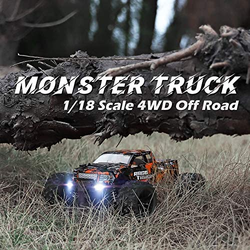 61iYbKBASfL. AC  - 1:18 Scale RC Monster Truck 18859E 36km/h Speed 4X4 Off Road Remote Control Truck,Waterproof Electric Powered RC Cars All Terrain Toys Vehicles with 2 Batteries,Excellent Xmas Gifts for kid and Adults