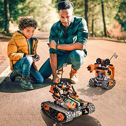 61klCD+HilL. AC  - OASO Remote Control STEM Building Kit for Boys 8-12, 392 Pcs Science Learning Educational Building Blocks for Kids, 3 in 1 Tracked Racer RC Car/Tank/Robot Toys Gift Sets for Boys Girls