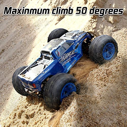 61lNPkRauhL. AC  - Soyee RC Cars 1:10 Scale RTR 46km/h High Speed Remote Control Car All Terrain Hobby Grade 4WD Off-Road Waterproof Monster Truck Electric Toys for Kids and Adults -1600mAh Batteries x2