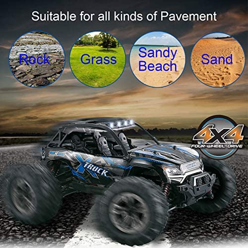 61uwWHE02LL. AC  - Fistone RC Truck 1/16 High Speed Racing Car , 24MPH 4WD Off-Road Waterproof Vehicle 2.4Ghz Radio Remote Control Monster Truck Dune Buggy Hobby Toys for Kids and Adults