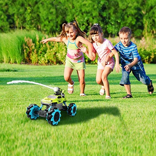61ws7P dznL. AC  - Remote Control Car for Kids 1:14 Scale 2.4GHz RC Cars 4WD All Terrain Off Road Monster Truck 3 Modes Transformation Radio Crawler, Water Cannon, Bubble Machine, for 4-12 Year Old Boys & Girls