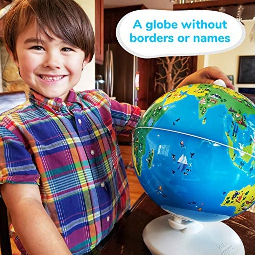 61xckXJUgoL. AC  - Shifu Orboot (App Based): Augmented Reality Interactive Globe For Kids, Stem Toy For Boys & Girls Ages 4+ Educational Toy Gift (No Borders, No Names On Globe)