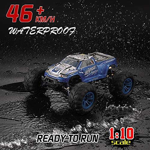 61zoAMjo+hL. AC  - Soyee RC Cars 1:10 Scale RTR 46km/h High Speed Remote Control Car All Terrain Hobby Grade 4WD Off-Road Waterproof Monster Truck Electric Toys for Kids and Adults -1600mAh Batteries x2
