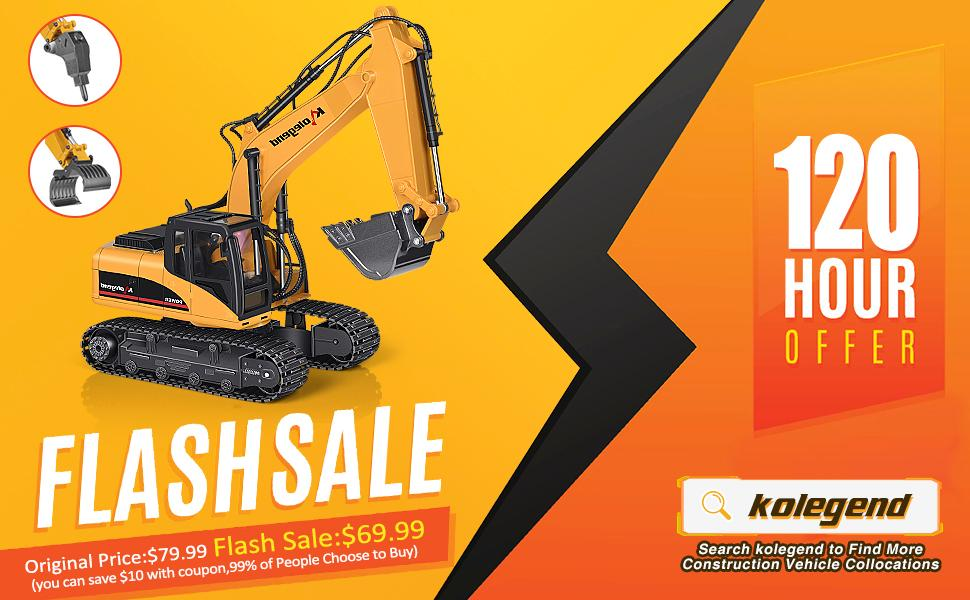 627644db 0afc 4c34 a77c 56f8c072e10e.  CR0,0,970,600 PT0 SX970 V1    - kolegend Remote Control Excavator Toy 1/14 Scale RC Excavator, 22 Channel Upgrade Full Functional Construction Vehicles Rechargeable RC Truck with Metal Shovel and Lights Sounds
