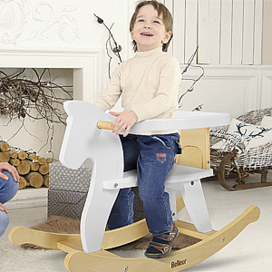 642d1442 6fee 4ed3 a69a f30bd9159ebe.  CR0,0,300,300 PT0 SX300 V1    - Belleur Wooden Rocking Horse for Baby, Toddler Wood Ride-on Toys for 1-3 Year Old, Boys & Girls Rocking Animal for Indoor & Outdoor Activities, Birthday White