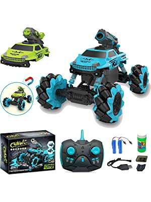 6d303629 496d 48b4 a878 26e08861d18f.  CR0,0,1200,1600 PT0 SX300 V1    - Remote Control Car for Kids 1:14 Scale 2.4GHz RC Cars 4WD All Terrain Off Road Monster Truck 3 Modes Transformation Radio Crawler, Water Cannon, Bubble Machine, for 4-12 Year Old Boys & Girls