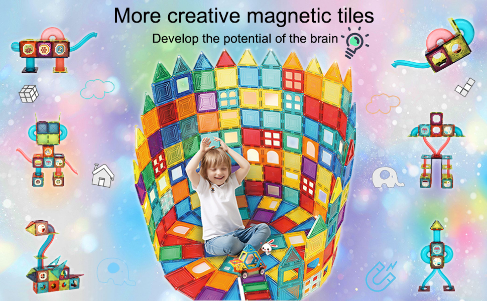6ee5c2a4 b8f2 4f54 a7dc f43a2b4d7aa0.  CR0,0,970,600 PT0 SX970 V1    - MAMABOO Magnetic Tiles Set 174 Piece Pipe Magnetic Building Blocks with Car for Kids 3D Clear Magnets Educational Toys Marble Run STEM Toy for Children Kids Boys Girls Age 3 4 5 6 7 8+ Year Old