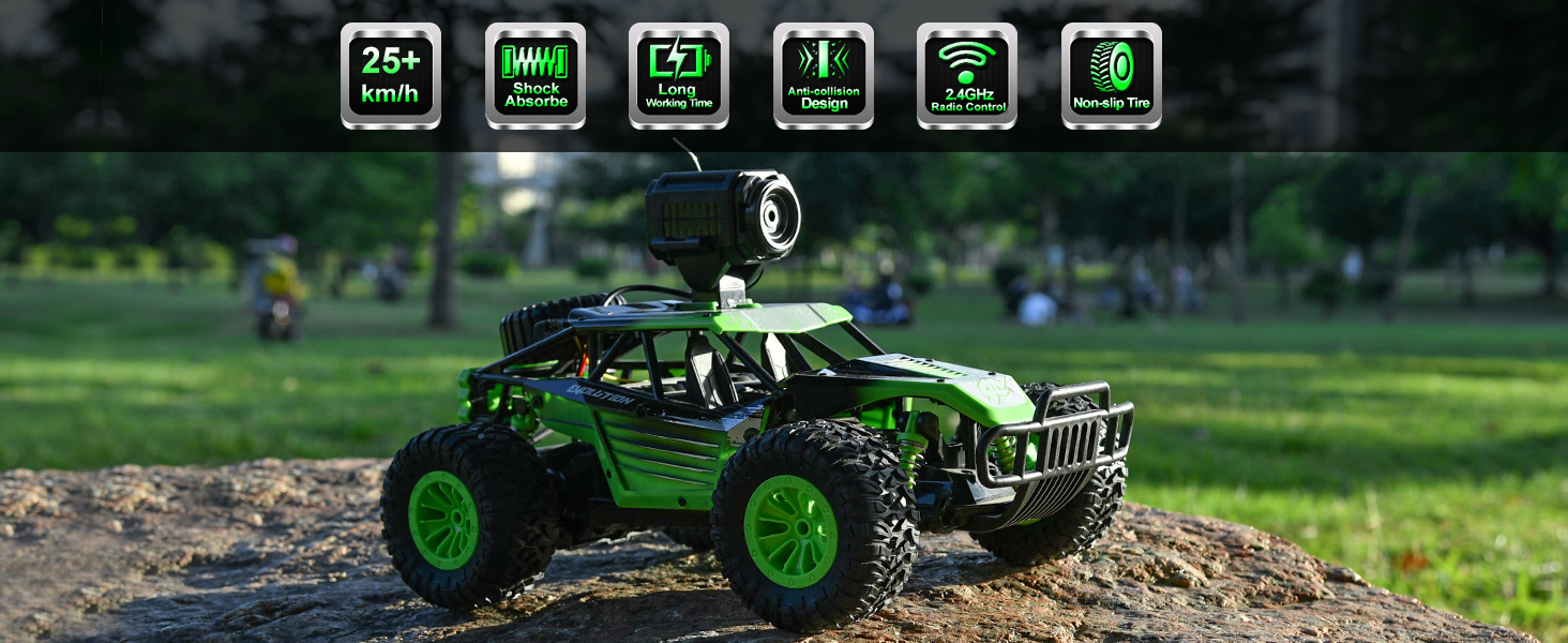 865324dc 3290 4d76 a552 895c7d50936a.  CR0,0,1464,600 PT0 SX1464 V1    - Gizmovine Remote Control Car with Camera, High Speed Racing Off-Road RC Cars with 2 Rechargeable Batteries, Waterproof RC Monster Trucks Buggy Vehicle Electric Toy Cars for All Kids Boy