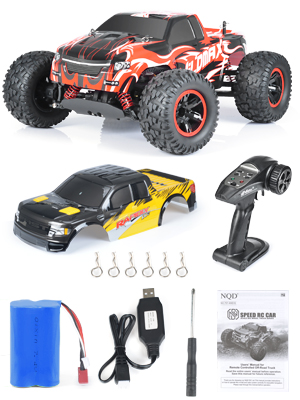 9e0125a1 513f 4f6f b5e4 3e34f8703792.  CR0,0,300,400 PT0 SX300 V1    - NQD All Terrain Waterproof High Speed Remote Control Monster Truck, 1:10 Off Road RC Truck, 4WD 2.4Ghz RC Cars for Kids & Adults Gifts