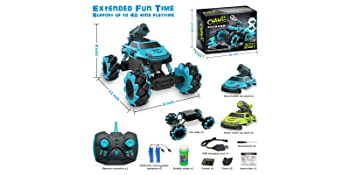 aaddb177 949b 4c03 8480 6affe5de3ee0.  CR0,0,3200,1600 PT0 SX350 V1    - Remote Control Car for Kids 1:14 Scale 2.4GHz RC Cars 4WD All Terrain Off Road Monster Truck 3 Modes Transformation Radio Crawler, Water Cannon, Bubble Machine, for 4-12 Year Old Boys & Girls