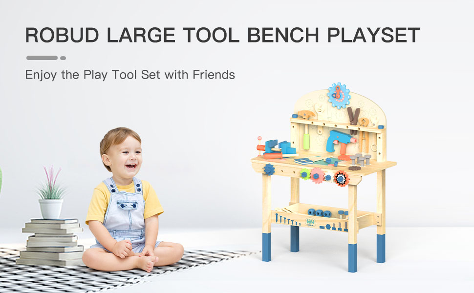 ac567997 c6c7 431c 9761 cb52a7ab5f5c.  CR0,0,970,600 PT0 SX970 V1    - ROBUD Large Wooden Play Tool Workbench Set for Kids Toddlers, Construction Workshop Tool Bench Toys Gift