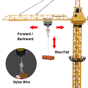 b35cc264 7020 4689 a247 90d57834fcd1.  CR0,0,300,300 PT0 SX300 V1    - Mini Tudou RC Crane Toy,50.4 inch Tall 2.4GHz Remote Control Robotic Excavator,Educational Construction Vehicles Toy for Ages 6,7,8,9 Boys or Girls