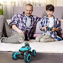 b9e26e97 0207 4846 b785 8513cc0e59cc.  CR0,0,1600,1600 PT0 SX220 V1    - Remote Control Car for Kids 1:14 Scale 2.4GHz RC Cars 4WD All Terrain Off Road Monster Truck 3 Modes Transformation Radio Crawler, Water Cannon, Bubble Machine, for 4-12 Year Old Boys & Girls