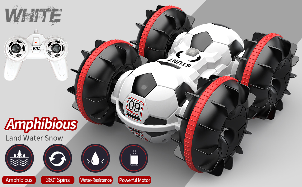 bb013e24 940c 4c4f 948c dfdda4769c41.  CR0,0,970,600 PT0 SX970 V1    - BeeBean Amphibious Remote Control Car,2.4Ghz 4WD All Terrain Football RC Boat,360 Degree Spins and Flips Off Road Waterproof Vehicle with 2 Rechargeable Batteries,Pool Toys Gift for Adults and Kids