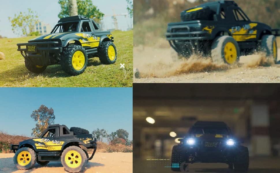 bea5f237 dd44 4547 85ac 749cace135c5.  CR6,0,970,600 PT0 SX970 V1    - Remote Control Jeep Dodoeleph 4X4 1:16 Large Off-Road Monster RC Trucks, 70Min Play 2.4GHz All Terrain Rock Cralwer with LED Light, High Speed Electric Vehicle Car Toy for Boys Kids