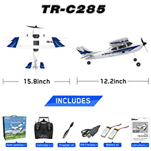 c0a60d20 f73a 4d6a a435 2fd3e54565a6.  CR0,0,3000,3000 PT0 SX300 V1    - Top Race Rc Plane 3 Channel Remote Control Airplane Ready to Fly Rc Planes for Adults, Easy & Ready to Fly, Great Gift Toy for Adults or Advanced Kids, Upgraded with Propeller Saver (TR-C285G)