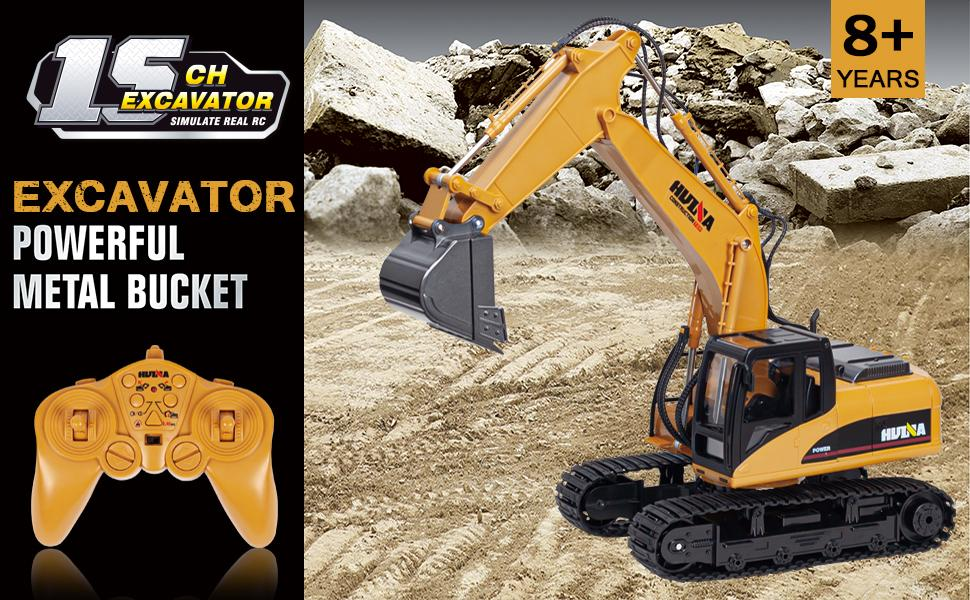 ce0f9d36 56cf 4c52 b94e b47f4e2492a2.  CR0,0,970,600 PT0 SX970 V1    - TEMA1985 Remote Control Excavator Toys with Metal Shovel 15 Channel Full Functional RC Construction Vehicles with Lights & Sound 2.4Ghz RC Excavator Toys for Boys