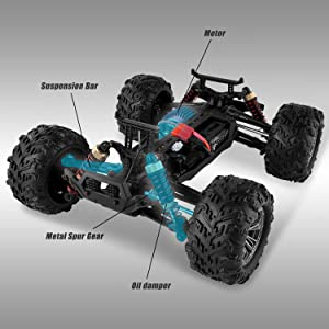 d1399ed2 bae0 4151 9b63 7e5d04b3f392.  CR0,0,3000,3000 PT0 SX300 V1    - BEZGAR 6 Hobbyist Grade 1:16 Scale Remote Control Truck, 4WD High Speed 40+ Kmh All Terrains Electric Toy Off Road RC Monster Vehicle Car Crawler with 2 Rechargeable Batteries for Boys Kids and Adults
