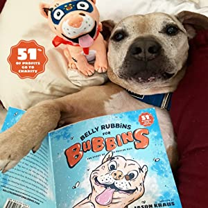 d4a23600 fd5d 4b19 8e64 cd3e407db86b.  CR0,0,960,960 PT0 SX300 V1    - Belly Rubbins for Bubbins Storybook & Plush Toy Set - 2 Children's Picture Books, Coloring Book with Crayons, Pit Bull Plushie, Storage Bag - Stories About Rescue Dog Adoption - Gifts for Kids Ages 3+