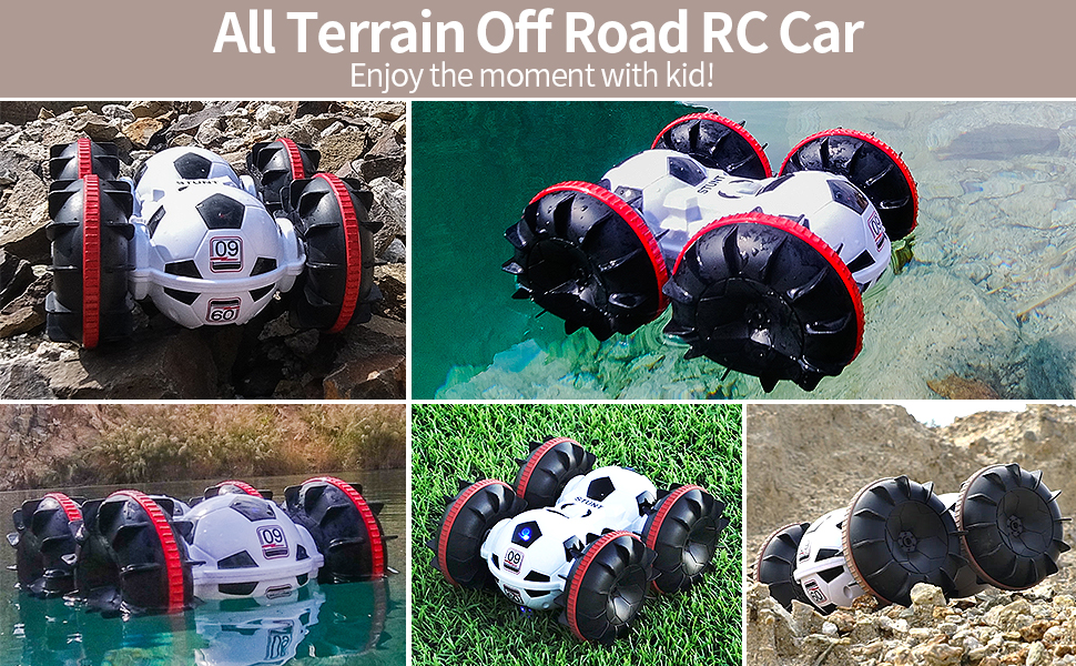 e339c629 5820 4b3c a295 f348e6d7cffa.  CR0,0,970,600 PT0 SX970 V1    - BeeBean Amphibious Remote Control Car,2.4Ghz 4WD All Terrain Football RC Boat,360 Degree Spins and Flips Off Road Waterproof Vehicle with 2 Rechargeable Batteries,Pool Toys Gift for Adults and Kids