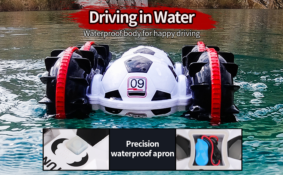 f20fdace 815e 409b 9972 0b8c2a8c52f9.  CR0,0,970,600 PT0 SX970 V1    - BeeBean Amphibious Remote Control Car,2.4Ghz 4WD All Terrain Football RC Boat,360 Degree Spins and Flips Off Road Waterproof Vehicle with 2 Rechargeable Batteries,Pool Toys Gift for Adults and Kids