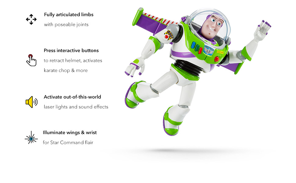 f22298ee 2f91 4fe3 be09 805e6b7664d6.  CR0,0,970,600 PT0 SX970 V1    - Disney Buzz Lightyear Interactive Talking Action Figure - 12 Inches